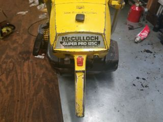 Vintage McCulloch Sp125c Chainsaw 2