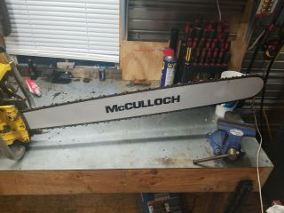 Vintage McCulloch Sp125c Chainsaw 9