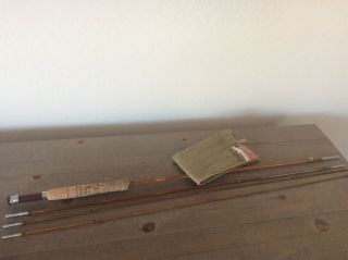 Vintage South Bend Bamboo Fly Rod 47 8 1/2