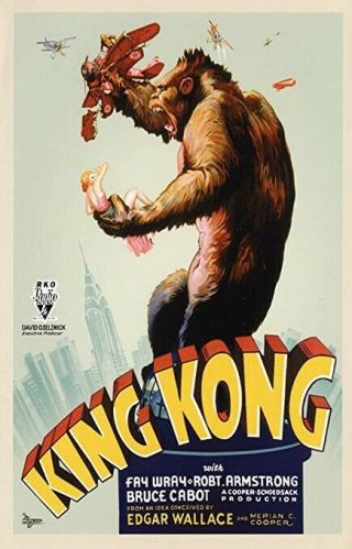 16mm King Kong Feature Movie Vintage 1933 Film Sci - Fi Horror