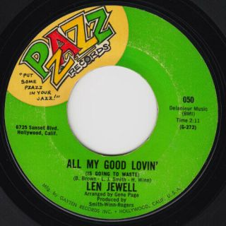 Len Jewell All My Good Lovin Mega Rare Us 45 Northern Soul Listen