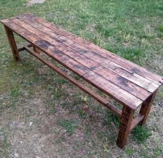 Bench - Reclaimed Pallet Wood - Handmade - Upcycled - Vintage,  Rustic Look