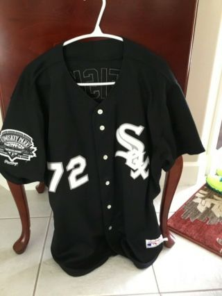 Carlton Fisk 1991 Game White Sox Alternate Jersey.  Hof'er.  Rare 1 Yearstyle