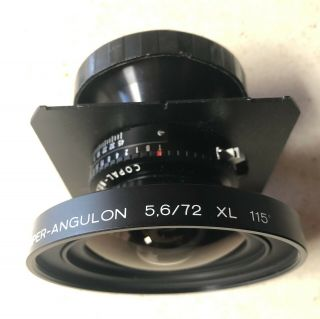 Schneider 72mm F5.  6 Angulon XL With (Rare) Centre Filter And Polariser 2