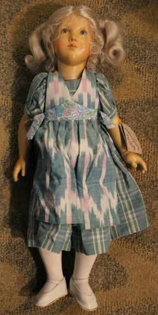 Rare Regina Sandreuter Handcrafted,  Multi - Jointed Wooden Doll (signed)