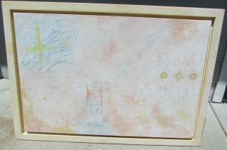 Exceptional Vintage Large Abstract Mid Century Modern Modernist Painting