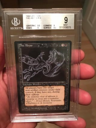 1994 Legends Magic The Gathering Mtg Black Rare Bgs 9 The Abyss Beckett