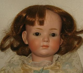 "Kley & Hahn Bisque Head Character Doll 16 "" Tall Mold 546 With Glass Eyes Rare"