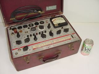 Vintage Hickok 600 Dynamic Mutual Conductance 300b 6l6 12ax7 Tube Tester Checker