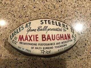 "Nfl Game Wilson "" The Duke "" Football Awarded To Maxie Baughan Rare One Only"