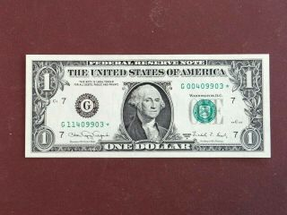 1988 $1 Federal Reserve Error Note Rare 2 Digit Mismatched Star Cu