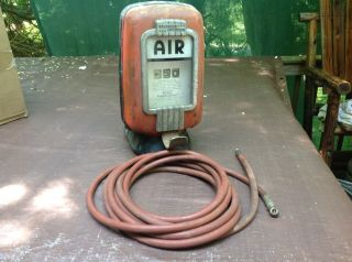 Vintage Eco 97 Tireflator Wall Mount Air Meter And Hose