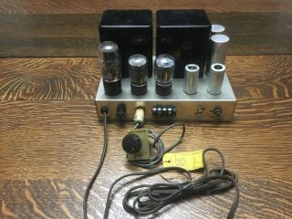 Fisher 70 Az Tube Amplifier Rare Square Early Type