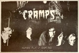 The Cramps Ultra Rare Human Fly Promo Poster For 1978 Debut 45 Vengeance Punk