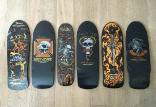 Powell Peralta Bones Brigade Series 4 Skateboard Decks Signed Complete Set Rare