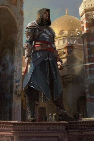 "Assassins Creed "" Ezio "" Craig Mullins Lithograph (extremely Rare,  38 Of 60)"