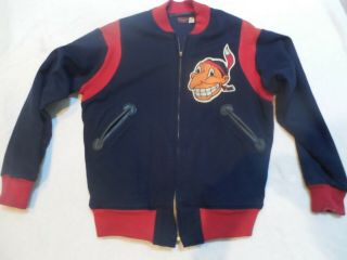 1948 Game Cleveland Indians Baseball Warm Up Jacket World Series Rare