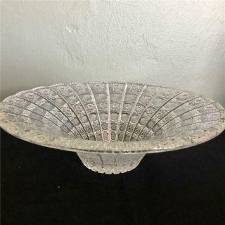 Moser Bohemian Czech Vintage Cut Glass Large Fruit Bowl - Very Intricate Design