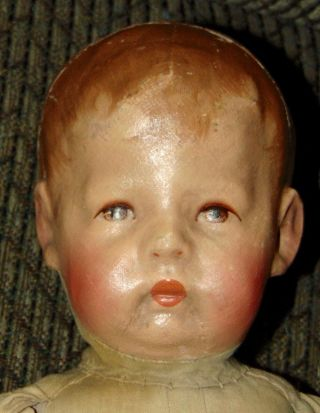 EARLY ANTIQUE Doll KATHE KRUSE Cloth WIDE HIPS Mask Face 6
