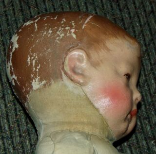 EARLY ANTIQUE Doll KATHE KRUSE Cloth WIDE HIPS Mask Face 7