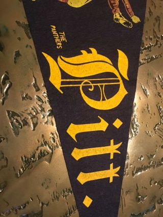Wow Early 1900s Pitt Pittsburgh Vintage Extremely Rare Pennant 3