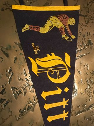 Wow Early 1900s Pitt Pittsburgh Vintage Extremely Rare Pennant 4