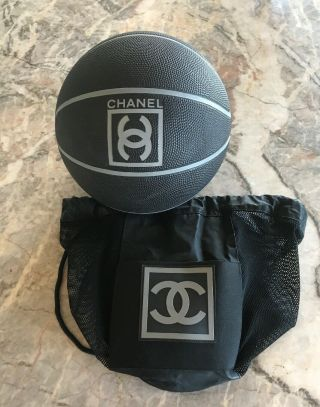 Vintage Chanel Basketball 2004 With Black Mesh Backpack Bag
