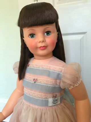 Ideal Black - Cherry Patti Playpal Doll And Rare Organza Party Dress