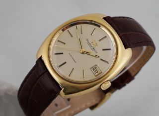 Vintage Iwc Electronic 18k Gold With Date Tuning Fork All - From 1970