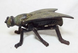 RARE Old 1897 SIMPSON IRON Cast Iron OHIO STATE FAIR Fly Souvenir MATCH HOLDER 2