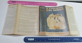 1929/farewell To Arms/ernest Hemingway/rare 1st Ed - 1st Issue - 1st State Dustjackt