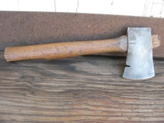 Vintage embossed extremely rare Lone Scouts axe hatchet. 3