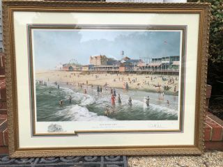 "Rare "" Old Ocean City "" Paul Mcgehee Signed,  Professionally Framed"