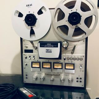 "Akai Gx - 630d - Ss Open Reel To Reel 4ch / 2ch Vintage 10.  5 "" Tape Recorder."