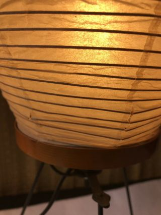 Vintage (60's) Isamu Noguchi AKARI 4a Table Lamp,  Complete.  FROM DEALER'S ESTATE 11