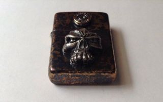 Collectible Rare Steel Flame/Emerson Zippo Lighter Skull.  45 Federal Shell 3