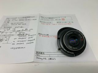 Rare Contax T2 Zeiss T 38mm F2.  8 Lens Converted To Leica M Mount By Ms Optical