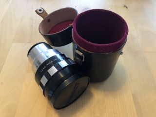 Vintage Sankor 16c Anamorphic Lens W/ Leather Case No.  30548 Made In Japan