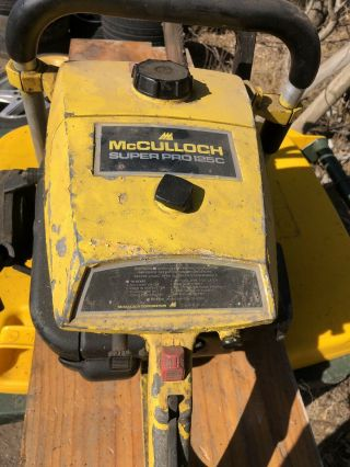 McCulloch SP125C vintage chainsaw Not Stihl 4