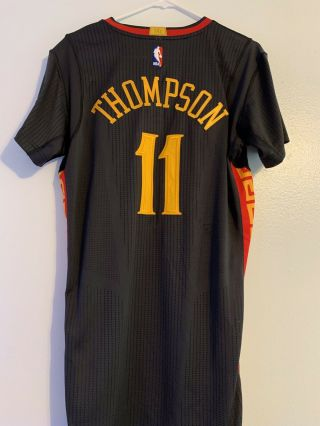 Rare Klay Thompson Warriors Chinese Year Game Worn Jersey Steph Durant 2