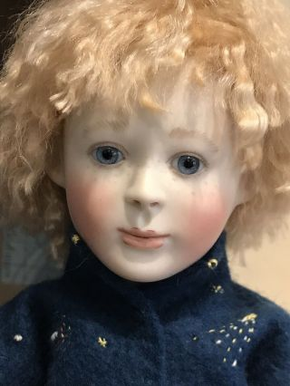 "Lynne & Michael Roche Doll Emile And His Spaceship 11"" Doll Rare Porcelain Le 10"