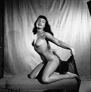 Rare Bettie Page 1954 Camera Negative Bunny Yeager Nude Figure Pin Up