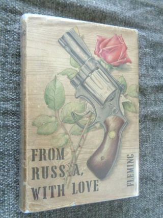 Rare 1957 1st Edition - From Russia With Love - Ian Fleming - Orig 1st State Dj