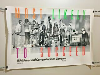Vintage Ibm Personal Computers On Campus Poster Most Likely To Succeed