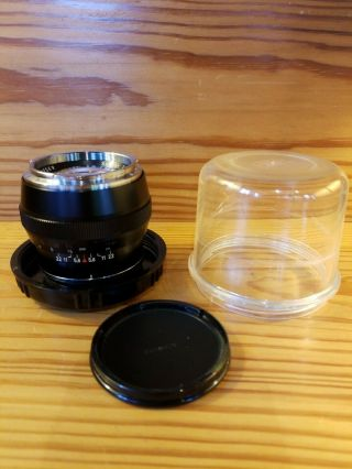 Rare All Black Carl Zeiss Sonnar 85/2 85mm F2 Contarex Lens Germany