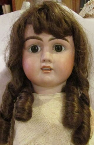 """Huge Antique C1890 32 """" French Rare Bisque Jullien Doll W/great Lace Outfit"""