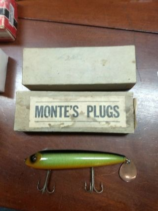 Outstanding Rare Montes Plug Wiggle 702 Big Game Lure Bait Great Color