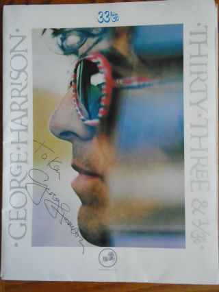 Rare 1976 George Harrison Autographed Press Kit With Event T - Shirt