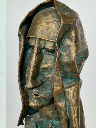 Vtg 60s Badynski Mid Century Modern Nunn Figure Bronze Abstract Sculpture