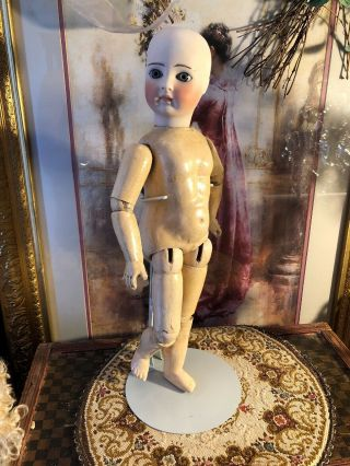 Stunning Antique As Found.  Belton Child Doll Incised 10 W/original Body